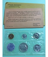 0ne 1964 UNITED STATES PROOF SET  P MINT MART 5 COINS, VERY NICE COINS O... - $24.77