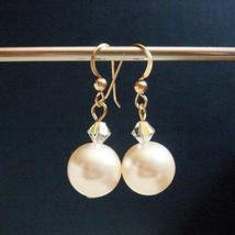 Large Swarovski Pearl Earrings - 14k Gold Filled - $25.00+