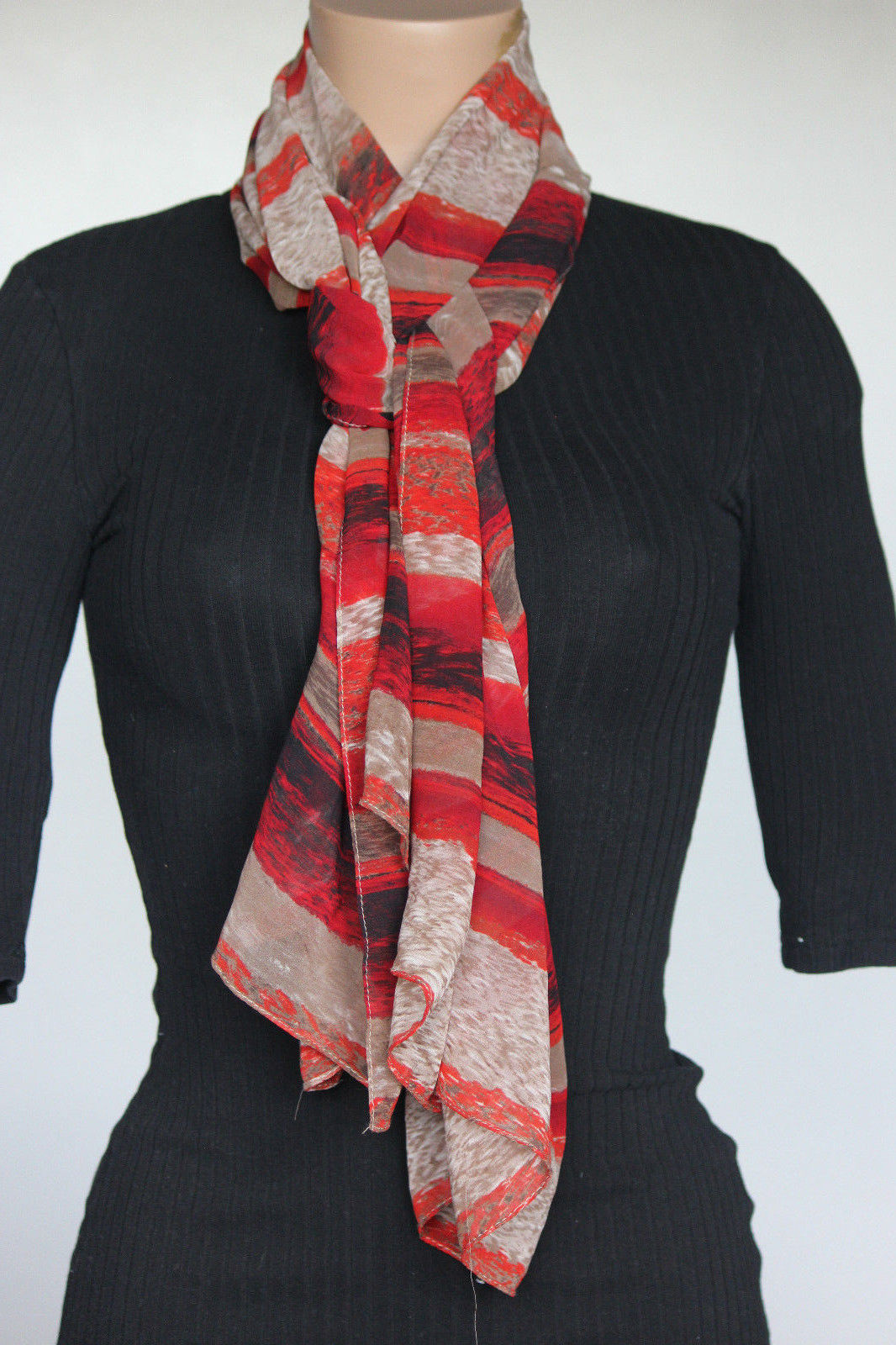 Primary image for NEW Calvin Klein Tango Women's Neck Scarf A4WS1091 28x72