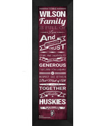"Personalized Bloomsburg University Huskies ""Family Cheer"" 24 x 8 Framed ... - $39.95"