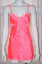 Victoria's Secret Satin Pink Lace Slip Medium M Camisole Nightgown Babydoll New - $23.24