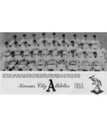 1955 KANSAS CITY ATHLETICS A's 8X10 TEAM PHOTO BASEBALL PICTURE KC WIDE ... - $3.95