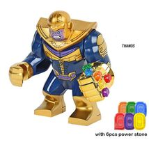 Thanos with Gauntlet 6pcs Power Stone Avengers Infinity War Mini figure Block - $3.95