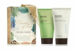 AHAVA Natural Charms Mineral Hand and Body Lotion 2 Pc Set Prickly Pear ... - $12.78