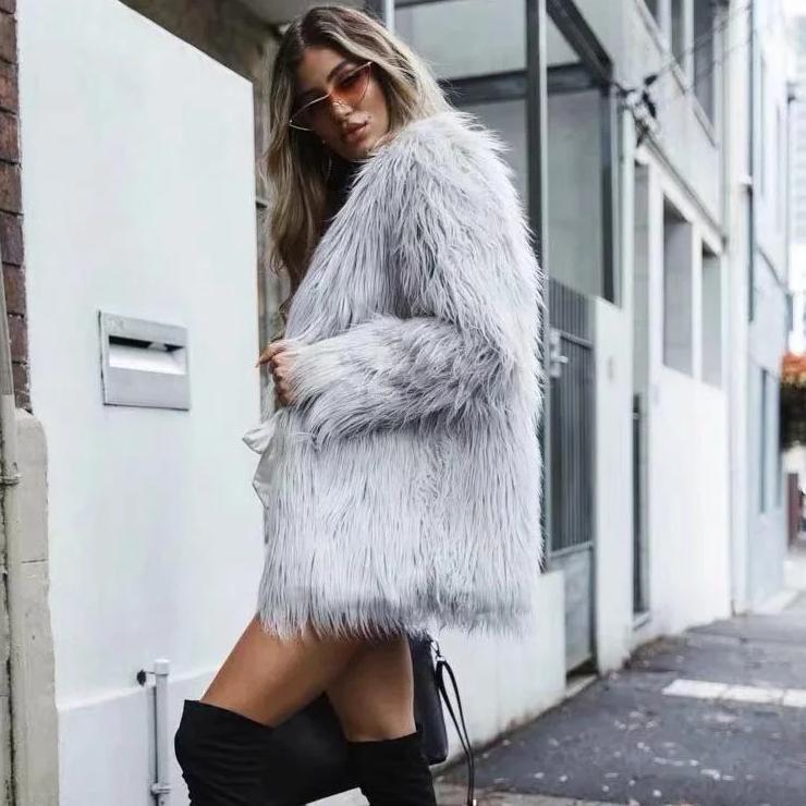 fashion winter long fur coat women long sleeve high street c26f06fe 7380 4373 b5c9 413a376a435b