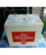 Vintage OLD MILWAUKEE Beer Styrofoam Cooler with metal handle DOUBLE SID... - $65.54