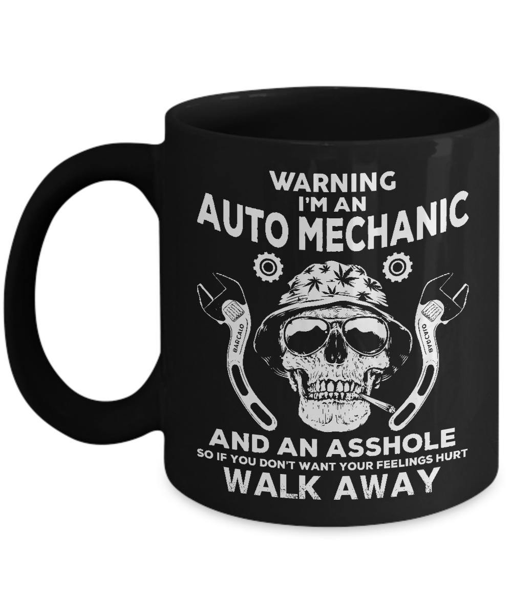 Primary image for Auto Mechanic Coffee Mug Skull Graphic Gift Auto Mechanic Gift