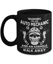 Auto Mechanic Coffee Mug Skull Graphic Gift Auto Mechanic Gift - $17.99