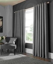 Elba Grey Ring Top Curtains - 9 Sizes - $71.09+