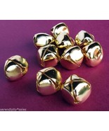 "LOT 250 Large Shiny GOLD JINGLE BELLS ~ 25mm (~1"") ~ Metal Craft CHRISTM... - $36.13"