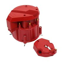 HEI Distributor 8CYL Tune-Up Kit 65k Volt Ignition Coil Red Super Male Cap image 4