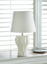White Desk Lamps, Ceramic Small Bedside Table Lamps For Bedrooms - $39.08