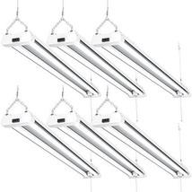 Sunco Lighting 6 Pack LED Utility Shop Light, 4 FT, Linkable Integrated Fixture,