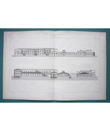 ARCHITECTURE 4 PRINTS 1867: PARIS Market Hall for Leather Products - $20.25