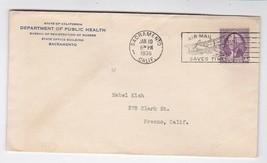 DEPARTMENT OF PUBLIC HEALTH SACRAMENTO, CALIF JANUARY 10 1936 - $1.98