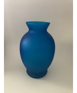 Blue Frosted Glass Vase - $14.99