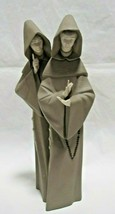 "Porcelain Lladro Monks Figurine 5155 14 1/2"" - 2002 - AS IS (NO BIBLE) - $74.25"