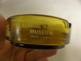 ILLINOIS RAILWAY MUSEUM YELLOW GLASS ASHTRAY - $9.50
