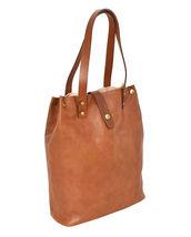 Women's Leather Boho Chic Purse Studded Expandable Lined Transport Tote Handbag image 8