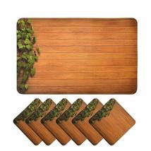 Handmade en Bois Style PVC Dîner Table Set de Ensemble Avec Thé sous-Ver... - $24.93