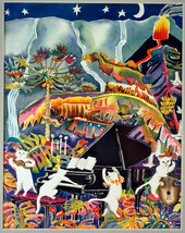 Print Cats Rock Kilauea Karen Spachner Signed Limited Ed. COA Matted & F... - $39.99