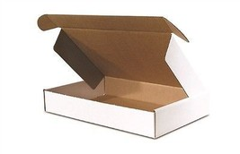 50 - 9 x 6 1/4 x 2  White -  DELUXE  - Front  Lock Protective Mailer Boxes  - $39.59
