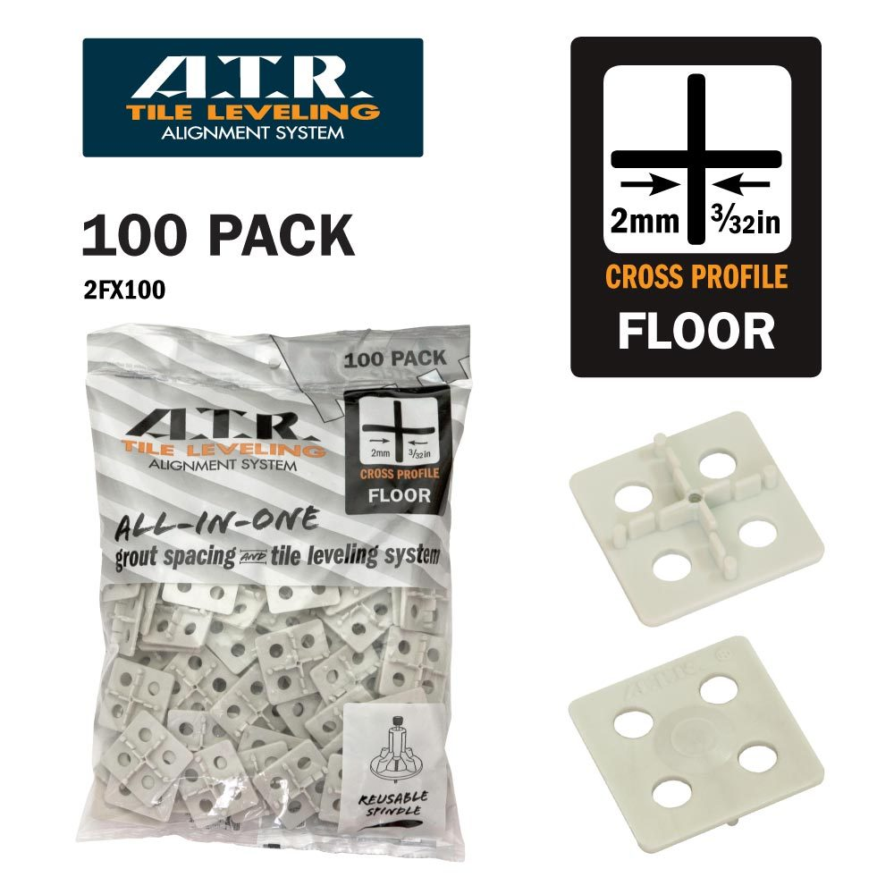Primary image for ATR Tile Leveling System 2mm Cross Floor Only Spacers 100