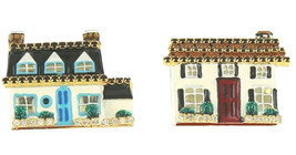 Lunch at the Ritz Real Estate Houses for Sale Dream Home Clip On Earrings - $64.35