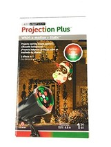 Gemmy LED Light Show Projection Plus With Santa In Red And Green - $18.09