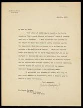 John D Rockefeller Jr Autographed Typed Letter Signed TLS 1917 George F ... - $233.59