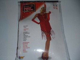 Flapper Costume Womens Sexy Swingin in Sequins Deluxe Size 14-16 - $14.99