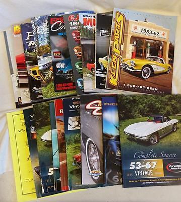 18 Old Corvette Mustang Truck Firebird Restoration Parts Catalogs Bundle Lot
