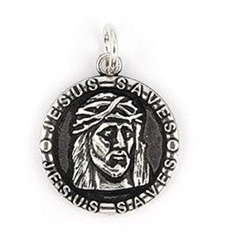 925 Sterling Silver Nickel Free Charms for Charm Bracelets (Jesus Saves)