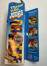 Vintage Milton Bradley Throw n Go Jenga Precision Crafted Wood 86 Missing Parts - £8.07 GBP