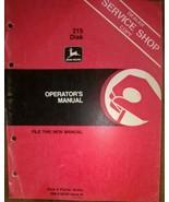 JD John Deere 215 Disk Operators Manual dealer's copy OM-A38035 OMA38035 I9 - $29.95