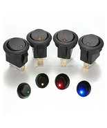 LED DOT INTERRUTTORE - a pressione - Illuminated Switch - AUTO LEVETTA 12V - $3.92