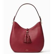 Kate Spade James Street Nori Hobo Bag Pebble Leather Merlot wkru4582 - £128.34 GBP