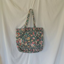 Vera Bradley Retired Iconic Signature Vera Tote XL Travel Bag Springtime... - $34.64