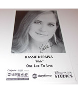 Kassie DePaiva Autograph Reprint Photo 9x6 One Life To Live 2004 Days GH... - $7.99
