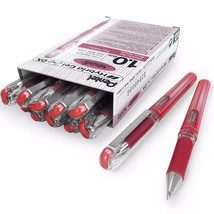 Pentel Metallic Gel Pen – Gel Grip 1.0mm Rollerball – Metallic Red – Box... - $15.36