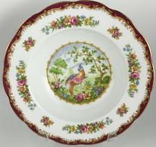 Royal Albert Chelsea Bird Maroon Rimmed soup bowl  - $55.00