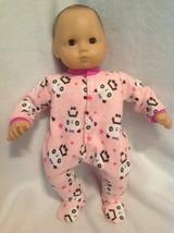 "15"" Bitty Baby pink panda bear pjs sleeper pajamas Girl Doll Clothes outfit - $13.54"