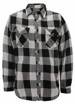 Men's Premium Cotton Button Up Long Sleeve Plaid Comfortable Flannel Shirt image 12