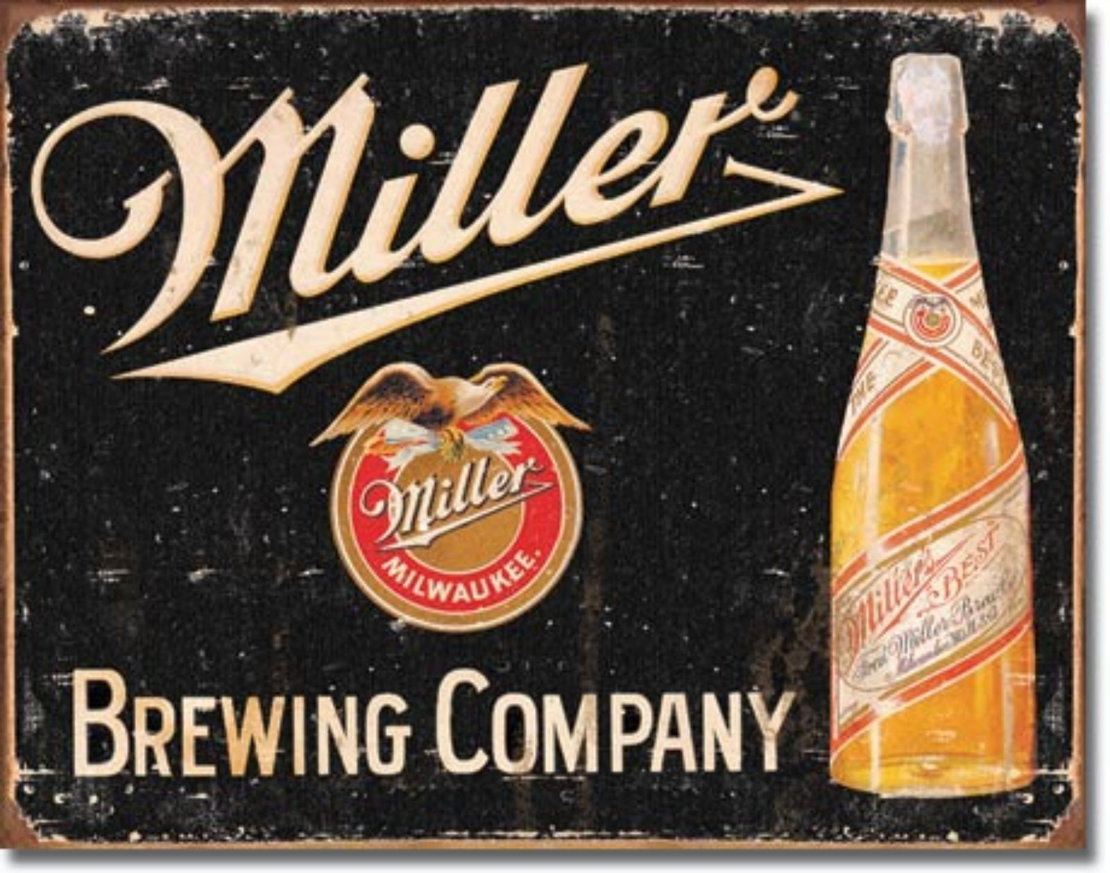 Miller Brewing Company Milwaukee Metal Sign Tin New Vintage Style USA #1649
