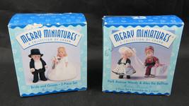 Lot 2 Hallmark Merry Miniatures Figurine Mme Alexander Wendy Alex & Bride Groom - $20.00