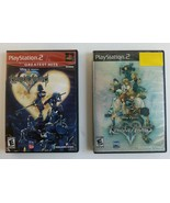 Disney Kingdom Hearts 1 & 2 Bundle Complete in Boxes Sony PS2 Scratches ... - $24.63
