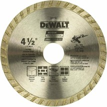 Diamond Blade for Masonry Dry Cutting Continuous Rim 7/8-Inch Arbor 4-1/2-Inch - $10.95