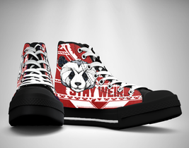 Weird Panda  Canvas Sneakers Shoes - $49.99