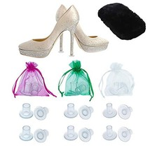 High Heel Protectors by MEGON - Heels Stopper for Women's Shoes, 6 pairs... - $16.28