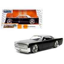 1963 Lincoln Continental Black with Silver Top 1/24 Diecast Model Car by... - $30.60